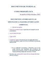 Inscripción - Centro Universitario de Ciencias Biológicas y ...