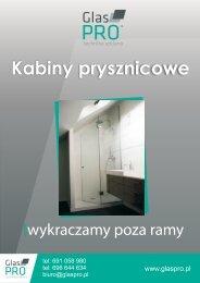 bezramowe kabiny prysznicowe - GlasPRO