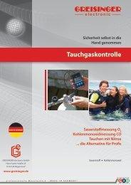 Tauchgas-Broschüre - Greisinger