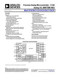 Precision Analog Microcontroller, 12-Bit Analog I/O ... - Elfa
