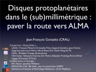 (sub)millimétrique : paver la route vers ALMA - Graal