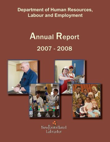 Annual Report - Department of Advanced Education and Skills