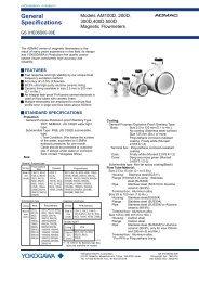 Models AM100D, 200D, 300D,400D,500D Magnetic ... - Yokogawa