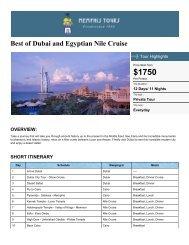 Dubai Holiday Package & Egypt Nile Tours - Memphis Tours