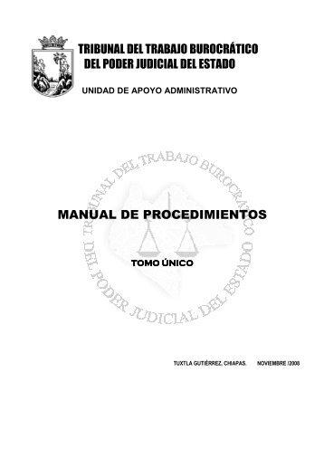 manual de procedimientos - Transparencia - Poder Judicial del ...