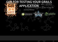 Geb for testing your Grails Application