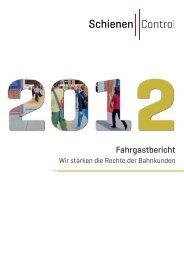 Fahrgastbericht 2012 - Schienen-Control