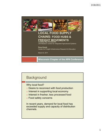 Local Food Supply Chains