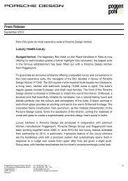 Press Release Luxury meets luxury - PORSCHE DESIGN Presseportal