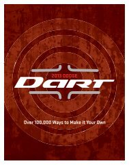 2013 DODGE Over 100000 Ways to Make it Your ... - Chrysler Canada