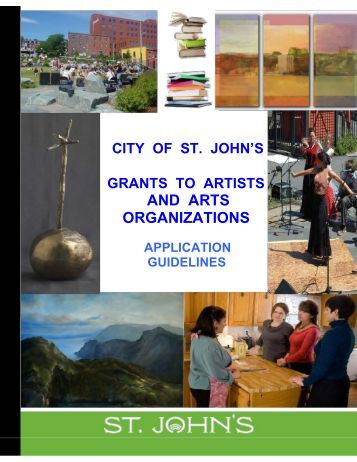 Application Guidelines - Grants to Artists and Art ... - City of St. John's