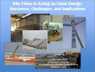 Why China Is Acting on Clean Energy: Successes ... - ChinaFAQs