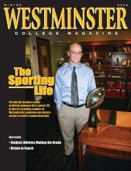 Sporting Life - Westminster College