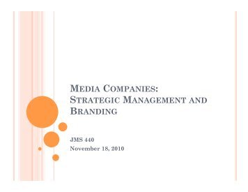 strategic management and branding - College Advertising Competition