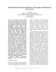 Hybrid Design Electrothermal Polymeric ... - COMSOL.com