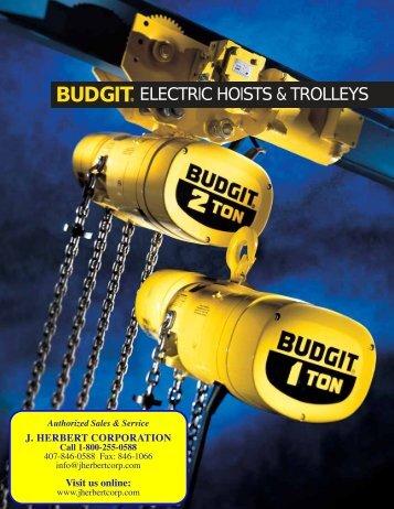 BUDGIT® ELECTRIC HOISTS & TROLLEYS - J. Herbert Corporation