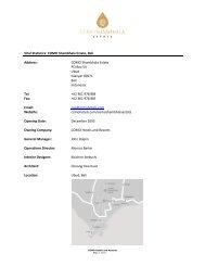 Vital Statistics - COMO Hotels and Resorts
