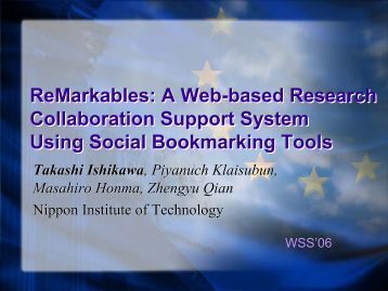 ReMarkables: A Web-based Research Collaboration Support ...