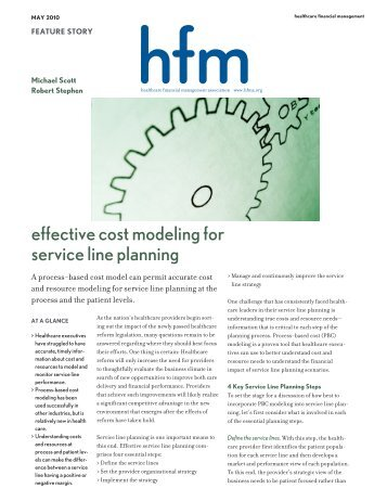 effective cost modeling for service line planning - Wipfli