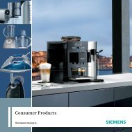 Consumer Products - Siemens