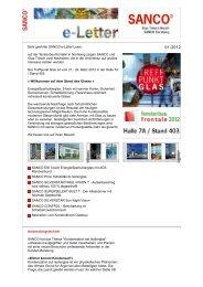 SANCO e-Letter - von Glas Porschen GmbH