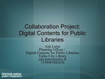 Digital Contents for public Libraries - Kirjastot.fi