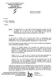 bepalingen ingevolge het arrest nr. 5/2004 van
