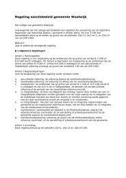 102. Regeling sanctiebeleid gemeente Waalwijk