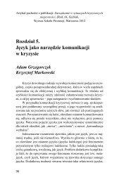 Rozdział 5. Język jako narzędzie komunikacji w kryzysie