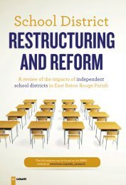 School District Restructuring and Reform