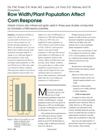 Row Width/Plant Population Affect Corn Response - Fluid Fertilizer ...