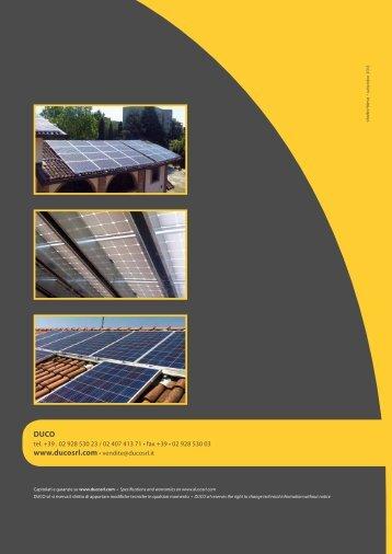 Scarica la brochure tecnico informativa di ... - Infobuildenergia.it