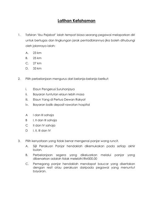 Contoh Latihan PTK Tahun 2007 - NRE