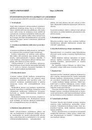OPETUSMINISTERIÖ Dnro 2/290/2010 INVESTOINTIAVUSTUSTA ...
