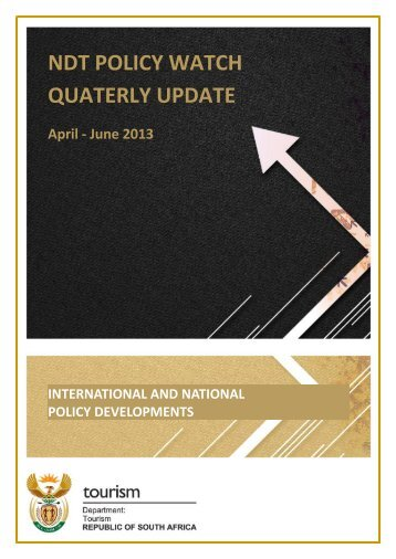 NDT Policy Watch Quarterly Update - Department of Tourism