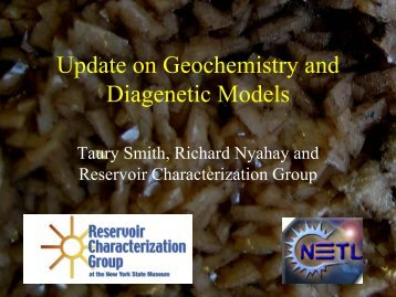Update on Geochemistry and Diagenetic Models - West Virginia ...