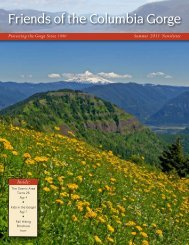 Summer 2011 - Friends of the Columbia Gorge
