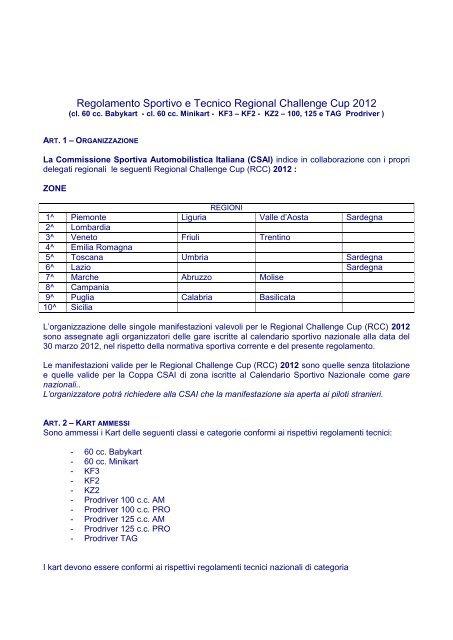 Aci Sport Calendario.Regolamento Sportivo E Tecnico Regional Aci Sport Italia