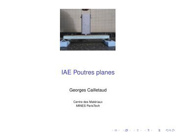 IAE Poutres planes - mms2 - MINES ParisTech