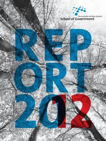 ANZSOG Report 2012 - Australia and New Zealand School of ...