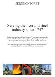 Jernkontoret - Serving the iron and steel industry since 1747