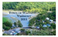 HERE - Town of Waitsfield, Vermont