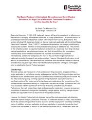The Madrid Protocol: A Centralized, Streamlined, and Cost-Effective ...