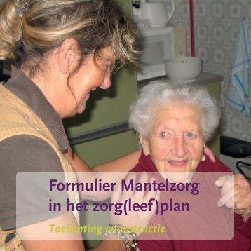 Instructie bij Formulier Mantelzorgondersteuning - Vilans
