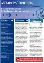 June 2012 - Derbyshire and Nottinghamshire Chamber of Commerce