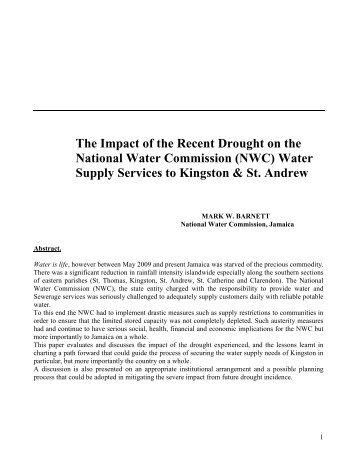 Mark Barnett The Impact of the Present Drought - Caribbean ...