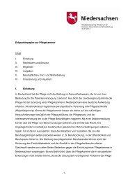 Eckpunkte-Papier Eine Pflegekammer für Niedersachsen