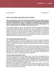 AREA 47 Pressemitteilung Herbst - genböck pr + consult