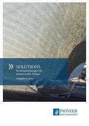 SOLUTIONS - Institutionelle Investoren - Pioneer Investments