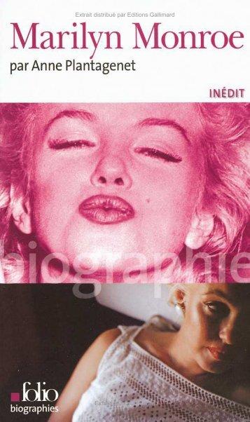 Marilyn Monroe Anne Plantagenet - Decitre